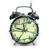 Barbedwire alarm clock Stock Photo