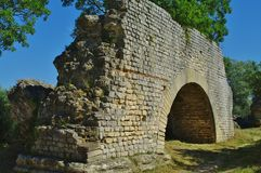 Barbegal aqueduct Stock Photography