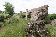 Barbegal-Ruine eines römischen Aquädukts lizenzfreie stockbilder
