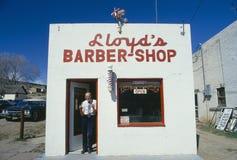 Barbeiro cidade pequena Imagem de Stock Royalty Free