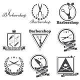 Barbeiro do logotipo da coleção Fotos de Stock Royalty Free