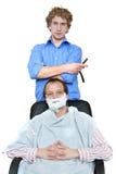 Barbeiro e cliente Imagem de Stock Royalty Free
