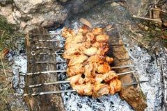 Barbekyu da un seno di pollo Immagini Stock