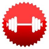 Barbell, κόκκινο σημάδι ήλιων απεικόνιση αποθεμάτων