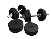 barbell 3d Photos stock