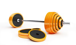 Barbell. On a white background Royalty Free Stock Photo
