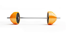 Barbell. On a white background Royalty Free Stock Image