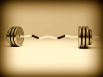 Barbell background Stock Photo