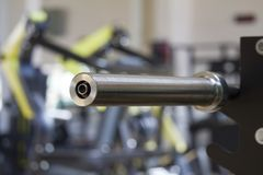 barbell bar . sports equipment concept stock photo