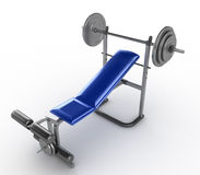 Barbell bench press Royalty Free Stock Photo