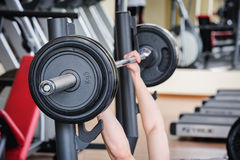 Barbell bench press Stock Photos
