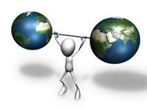 Barbell de la terre Illustration Libre de Droits