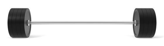 barbell de las FO del ejemplo 3d Foto de archivo libre de regalías