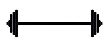 Barbell de silhouette, illustration de vecteur Illustration Stock