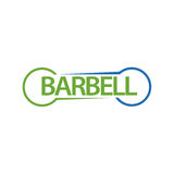 Barbell. Design abstract infographic front .Vector/illustration.Barbell icon.sport club Royalty Free Stock Images