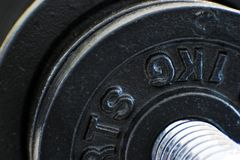 Barbell Details 2. Details of barbell discs, isolated Royalty Free Stock Image