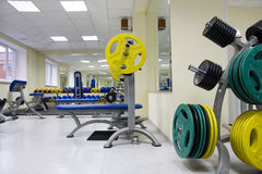 Barbell and discs Stock Photos