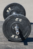 Barbell with disks Stock Photo