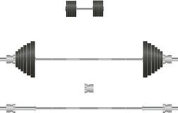 Barbell, dumbbell Royalty Free Stock Photos