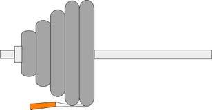 Barbell e sigaretta Fotografie Stock Libere da Diritti