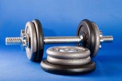 Barbell en Gewichten Royalty-vrije Stock Afbeeldingen