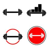 Barbell Fitness Equipment Set Stock Photos