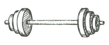 barbell Gráfico del vector Fotografía de archivo libre de regalías