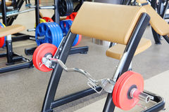 Barbell and gym bench Royalty Free Stock Images