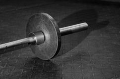 Barbell in a gym Royalty Free Stock Images