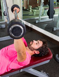 Barbell inclined bench Press flyes man workout Royalty Free Stock Photo