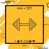 Barbell line icon Royalty Free Stock Image