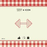 Barbell line icon Royalty Free Stock Images