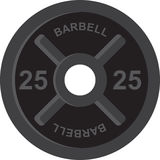 Barbell 25 Royalty Free Stock Image