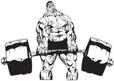 Barbell lourd illustration stock