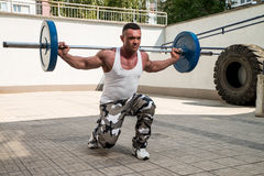 Barbell Lunge Royalty Free Stock Photo