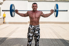 Barbell Lunge Stock Image
