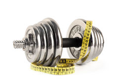 Barbell and meter Royalty Free Stock Image