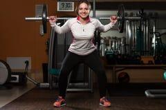 Barbell Pękaty trening Dla nóg Zdjęcie Royalty Free