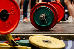 barbell with plates Stock Photo