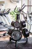 Barbell plates rack in the gym Stock Photos