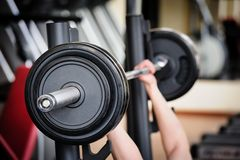 Barbell ready to workout Royalty Free Stock Image