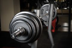 Barbell ready to workout Stock Photography
