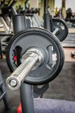 Barbell ready to workout Stock Images