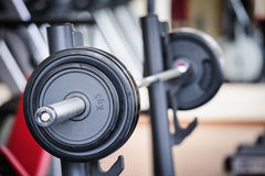 Barbell ready for workout Royalty Free Stock Photo