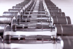 Barbell, set of weights Royalty Free Stock Photos