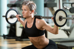 Barbell Squat Stock Images