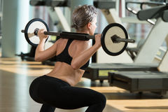 Barbell Squat Royalty Free Stock Photos