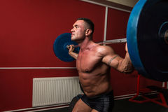 Barbell Squat Royalty Free Stock Photo