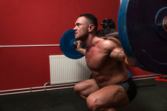 Barbell Squat Stock Photo