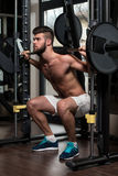 Barbell Squat Workout For Legs Stock Image